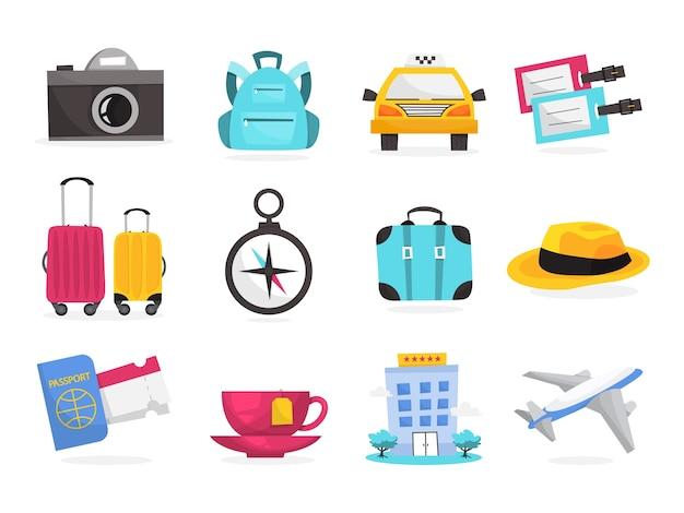 Concepto de viaje y vacaciones de verano. idea de turismo