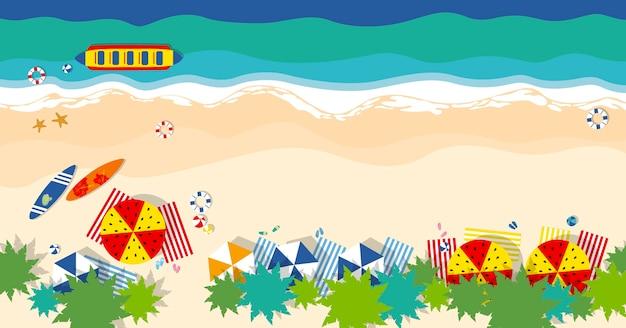Concepto de viaje de verano