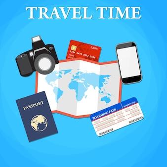 Concepto de viajes y turismo.