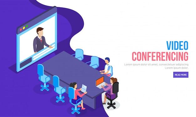 Concepto de videoconferencia