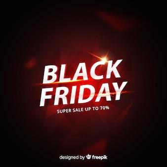 Concepto de viernes negro con fondo degradado