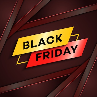 Concepto de viernes negro con fondo superpuesto degradado