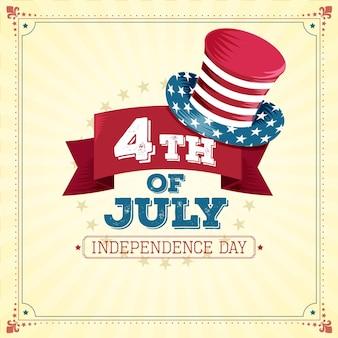 Concepto vintage del día de la independencia de estados unidos