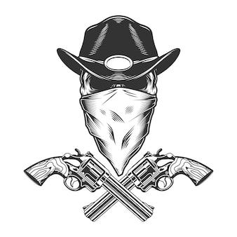 Concepto vintage monocromo del salvaje oeste