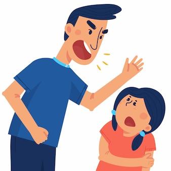 El concepto de violencia y abuso en la familia.