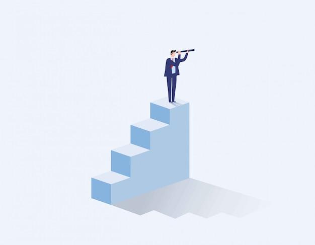 Concepto de visión en los negocios con el icono de vector