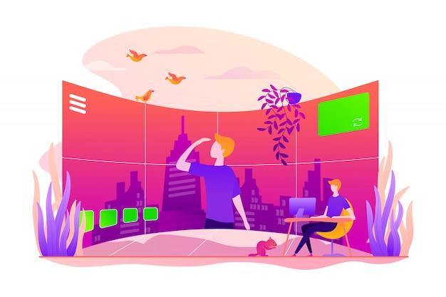 Concepto de visita virtual.