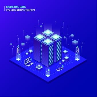 Concepto visual de datos isometricos