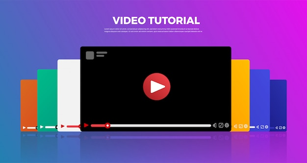 Concepto de vlog de diseño plano. crea contenido de video y gana dinero. ilustrar