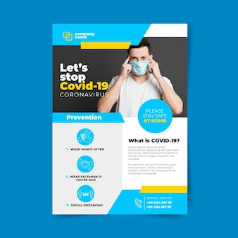 Concepto de volante informativo de coronavirus