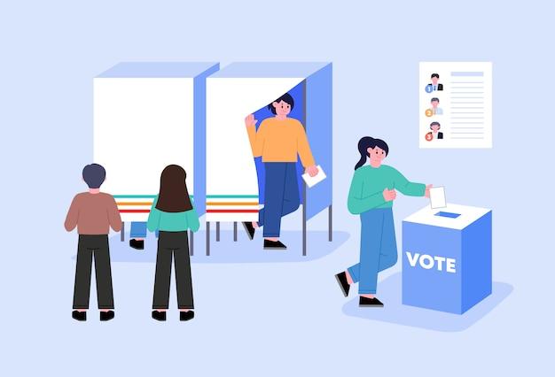 Concepto de votación y elección