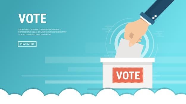 Concepto de votación en estilo plano