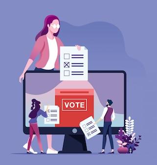 Concepto de votación en línea