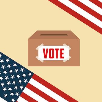 Concepto de votación presidencial de los estados unidos