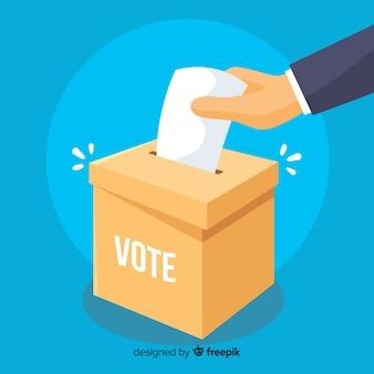 Concepto de votar y elección