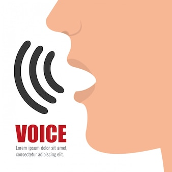 Concepto de voz