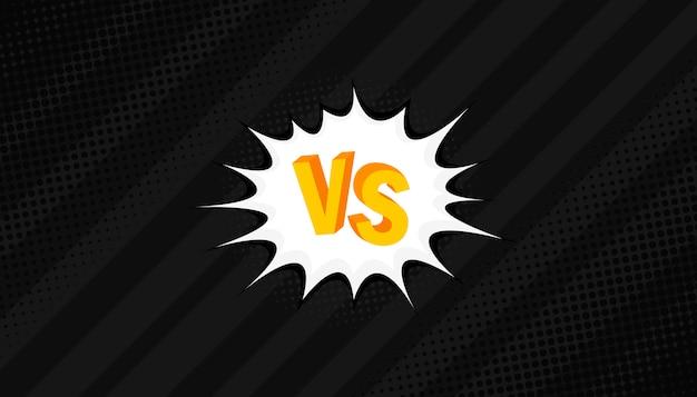Concepto vs. versus. lucha. diseño de estilo de cómic de fondo retro con trama de semitonos.