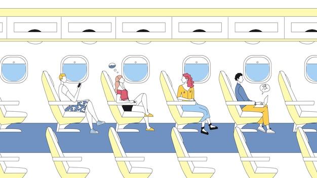 Concepto de vuelos internacionales de pasajeros.