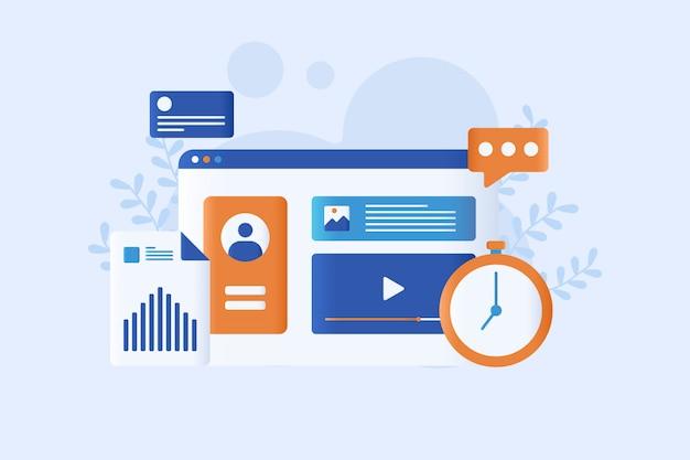 Concepto web marketing ilustración vectorial plana