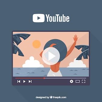 Concepto de youtube