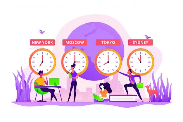 Concepto de zonas horarias