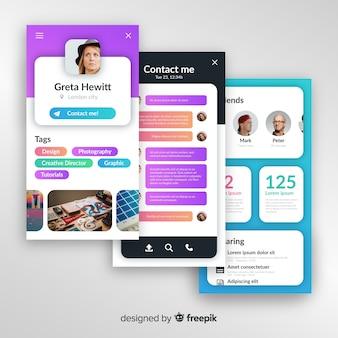 Conceptos de aplicación móvil