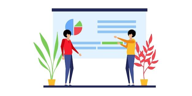 Conceptos comerciales de emprendedores. conceptos de diseño web. generación de ideas creativas, team building, gestión de la productividad