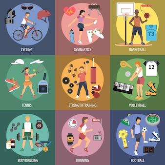 Conceptos de la gente del deporte