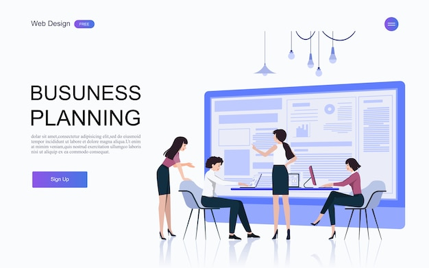 Conceptos de negocio para análisis y planificación, consultoría de trabajo en equipo, gestión de proyectos, informes financieros y estrategia. .