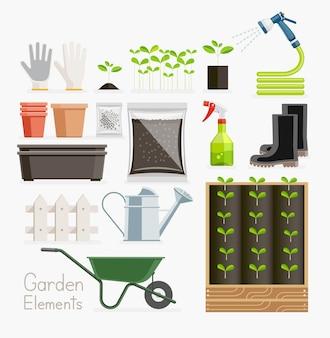 Conceptual de jardinería.