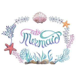 Conchas marinas pintadas a mano para diseños de invitaciones, tarjetas de felicitación, carteles y bolsas.