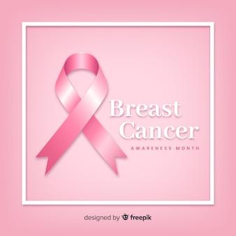 Conciencia del cáncer de mama con cinta realista