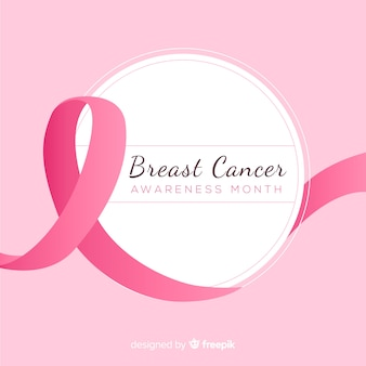 Conciencia del cáncer de mama con cinta rosa