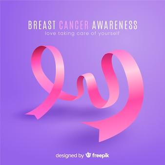 Conciencia del cáncer de mama con cinta