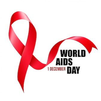 Conciencia del sida. concepto del día mundial del sida.