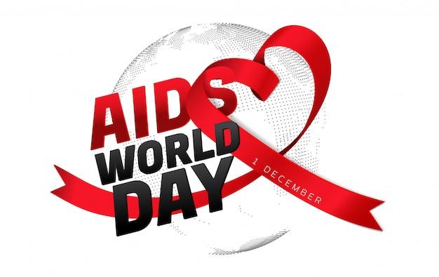 Conciencia sobre el sida cinta roja