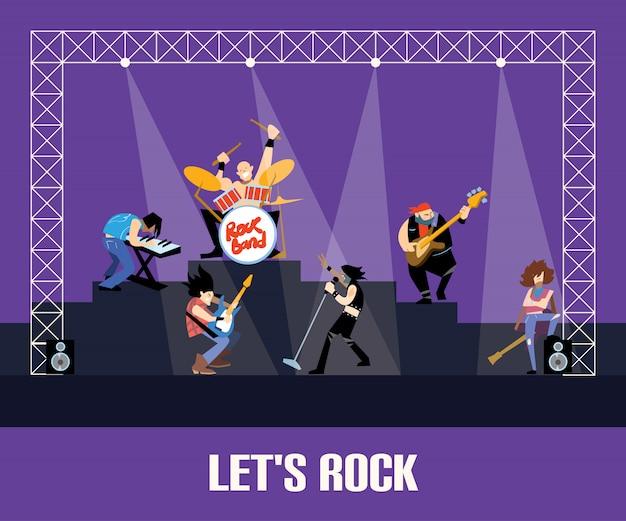 Concierto de banda de rock