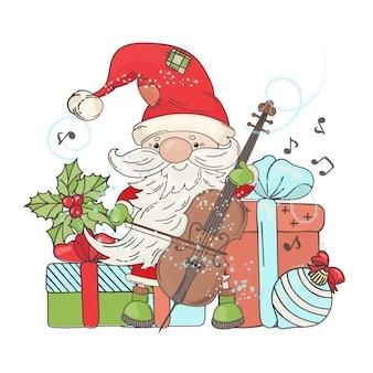 Concierto de santa año nuevo y navidad