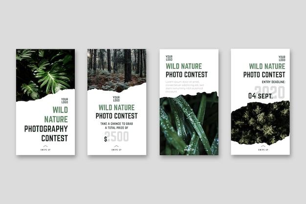 Concurso de fotografía de naturaleza salvaje historias de instagram