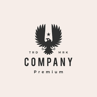 Cóndor pájaro hipster vintage logo