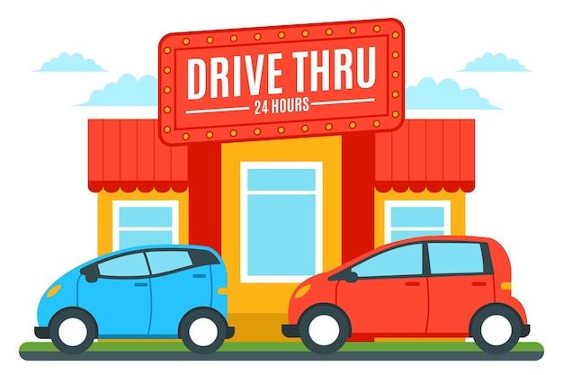 Conducir a través de la ilustración de la señal