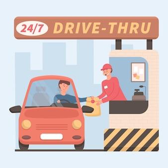 Conducir a través de la ventana