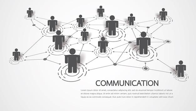 Conectando personas con puntos y líneas