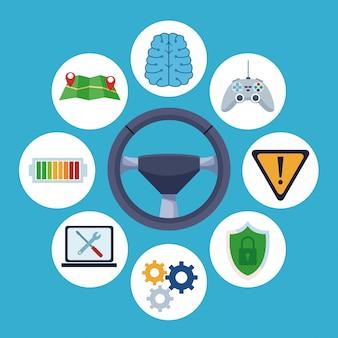 Conectividad a internet del coche.