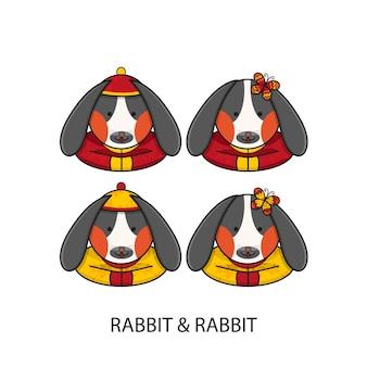 Conejo chino feliz año nuevo