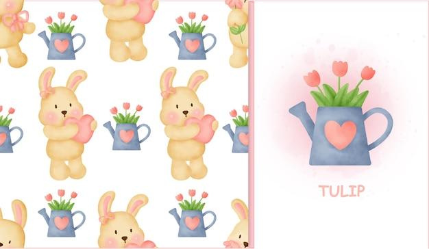 Conejo dulce de patrones sin fisuras