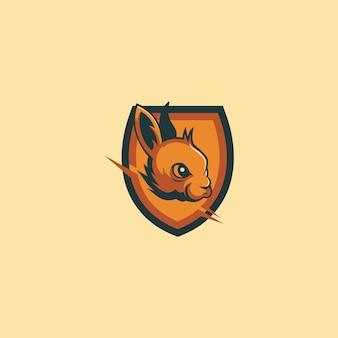 Conejo en el prisma logotipo de deporte electrónico