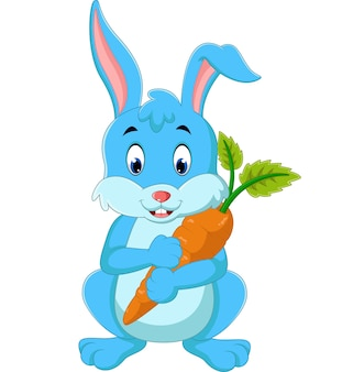 Conejo feliz de dibujos animados