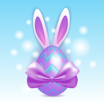 Conejo huevos coloridos decorados