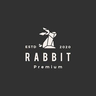Conejo liebre geométrica hipster hipster vintage icono icono ilustración